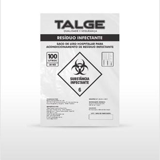 Saco para lixo infectante 30L 59x62cm