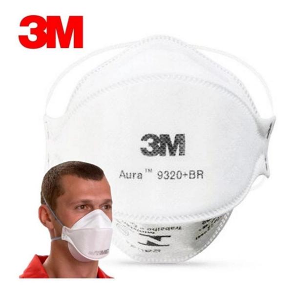 Máscara Aura 3M - Respirador Descartável Aura 9320+BR - 3M Brasil